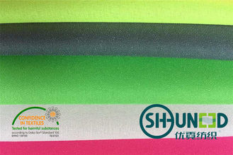100% Polyester Plain Weave Fusible Woven Interlining Untuk Lady 's Thin Fabric