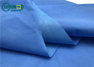 Three Layers Blue Hydrophilic Fabric / Film Shrink Resistant Ramah Lingkungan