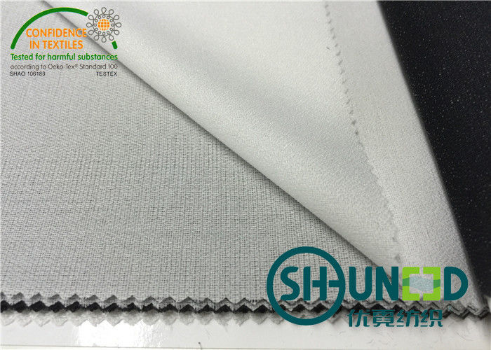 30D * 50D Double Dot Twill Weave Woven Interlining For Apparel Industry