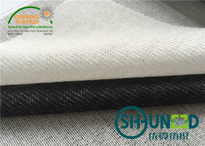 Shrinkage Resistant  Woven Interfacing With 35% Polyester / 75% Viscose