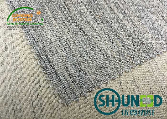 Suit And Overcoat Hair Interlining Cotton  Natural  Fabric 160cm Width