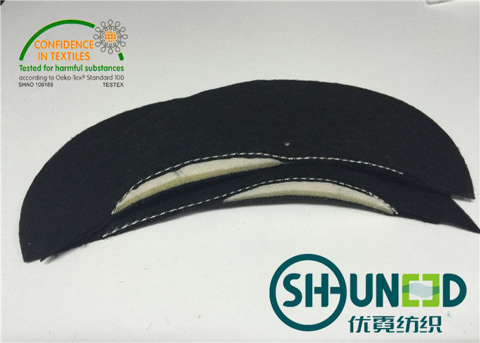 "Men""s Wear Foam Sewing Shoulder Pads Black For Apparel Industry"