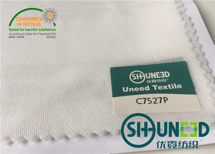 100% Polyester Circular Knit Bonded Fusible Interlining And Interfacing For High Stretch Fabric