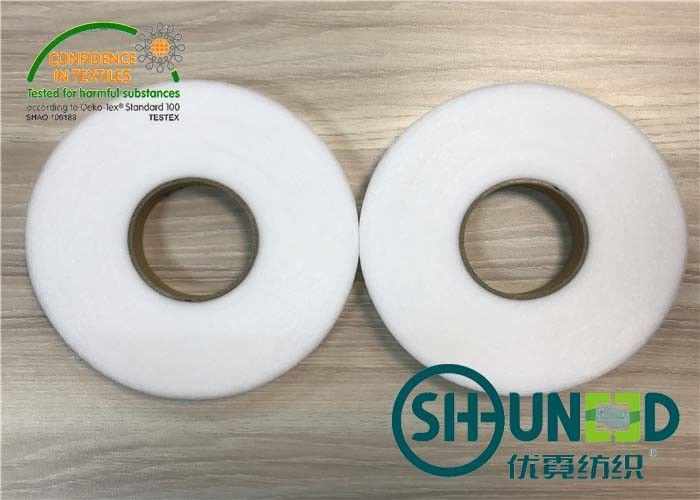 High Adhesive Force Double Side Fusible Web Non Woven Interlining Tape Eco Friendly