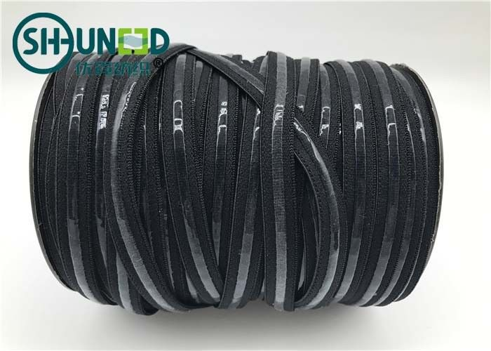 1.5cm Width Black Elastic Tape / Unbreakable Rubber Bands For Bra Underwear