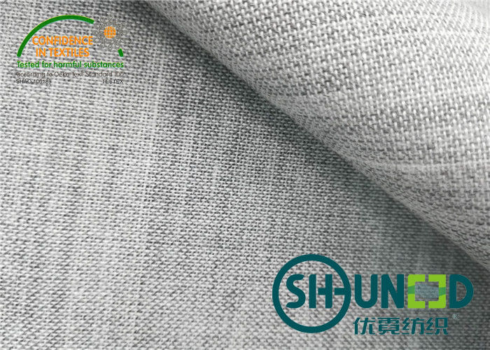 170gsm Medium Weight Cotton Canvas Fabric Smoothly Woven For Suit / Uniform