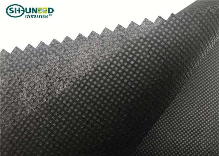 Black Non Woven Polypropylene Fabric / Spunbond Polypropylene Fabric 50gsm