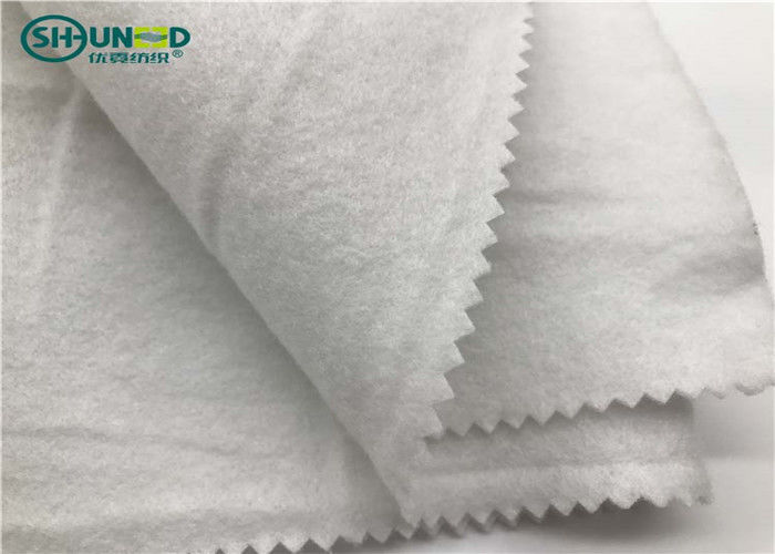 White Nonwoven Felt Garments Accessories For Small Part Of Cloth