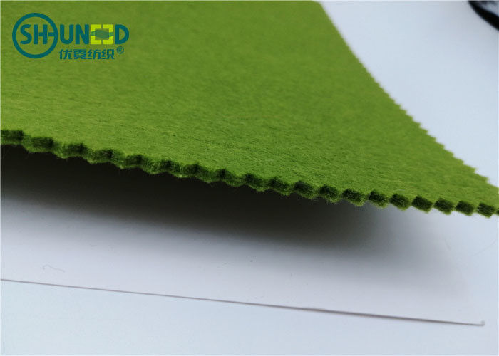 Colorful Polyester Needle Punch Nonwoven 1 - 10mm Thickness Plain Style