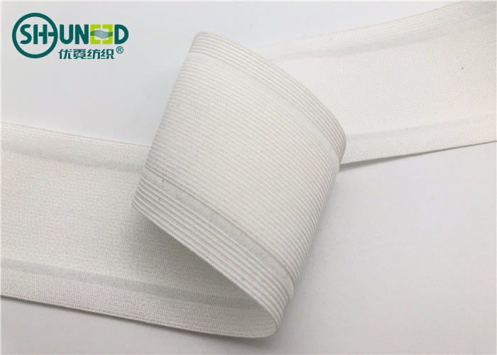 High Tenacity 5cm Width Anti Slip Waist Band Tape PA Coating 100% Polyester Material
