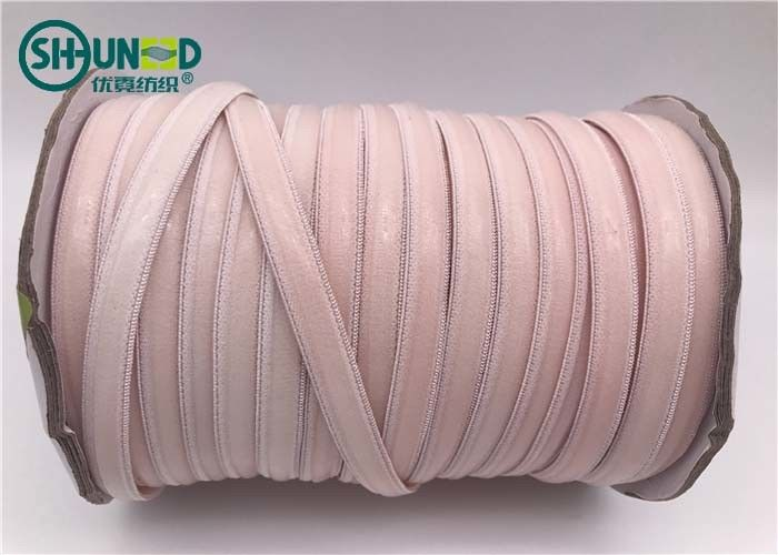 Good Tearing Strength Pink Silicone Elastic Tape / Unbreakable Rubber Bands For Jumpsuits