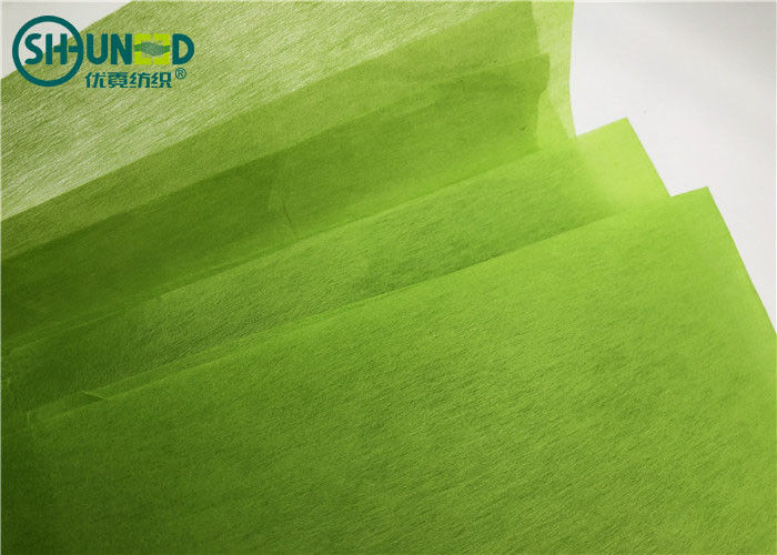 Green Color Plain Type Punch Needle Fabric Chemical Bond Nonwoven 30gsm
