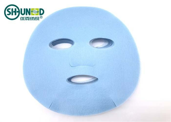 210mm * 210mm Size Blue PP Spunbond Non Woven Fabric For Facial Mask Back Support