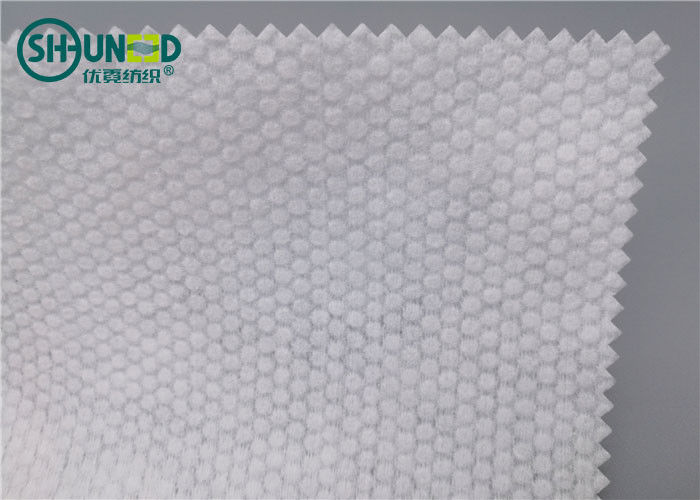 Pearl Pattern Spunlace Nonwoven Fabric Polyester / Viscose Cross Lapping